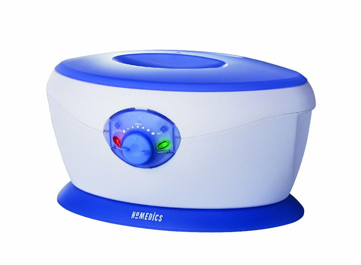 Homedics PAR-150 ParaSpa Pro Adjustable Temperature Paraffin Bath with Wax and Liners Included, White