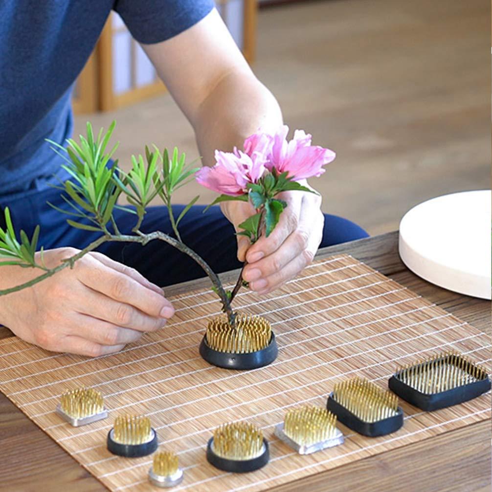 SUPVOX Ikebana Kenzan Flower Frog Round Flower Arranging Frog Spiky Frog Fixed Tools Art Floral Arrangement Japanese Pin Holder Diameter 33mm