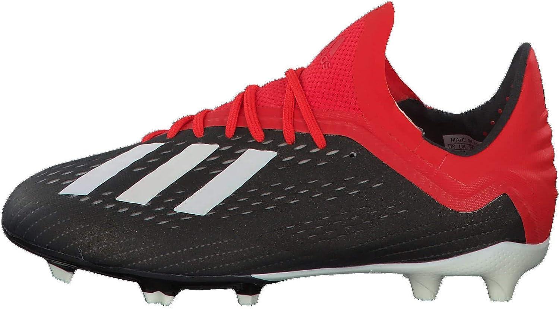 Desviación Alcanzar diagonal  Adidas X 18.1 FG J, Botas de fútbol Unisex niño, Multicolor  (Negbás/Ftwbla/Rojact 000), 37 1/3 EU: Amazon.es: Zapatos y complementos