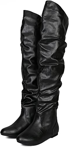 Low Heel Shoes Thigh High Boots Boots