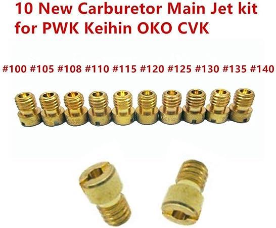 Fanuse Kit Getto Principale Carburatore 20 Pezzi Set Getto Lento//Pilota per PWK Keihin OKO CVK