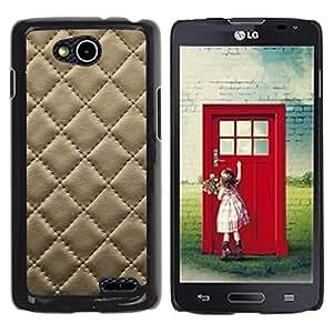 Estuche Cubierta Shell Smartphone estuche protector duro para el teléfono móvil Caso LG OPTIMUS L90 / D415 / CECELL Phone case / / Leather Cracker Cookie Stitching Diamond Pattern /