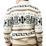 Camp Kitschy Knits Big Lebowski Dude Sweater 2XL White & Black