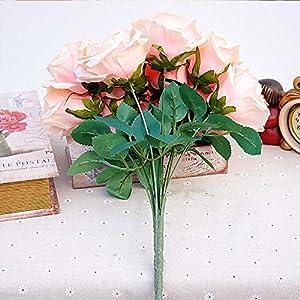 XGM GOU 12Pcs/Bundle Silk Roses Bride Bouquet for Home Wedding Party Christmas Decora Valentine's Day Present Craft Artificial Flowers 2