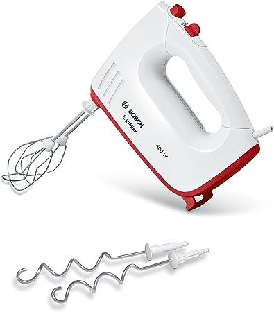 Bosch MFQ36300 Ergomixx - Batidora amasadora, 400 W, color blanco y rojo: Amazon.es: Hogar