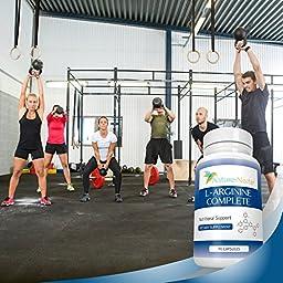 L-Arginine Supplement ✮ 90 Capsules ✮ Over 2,000mg per serving of Pure Arginine