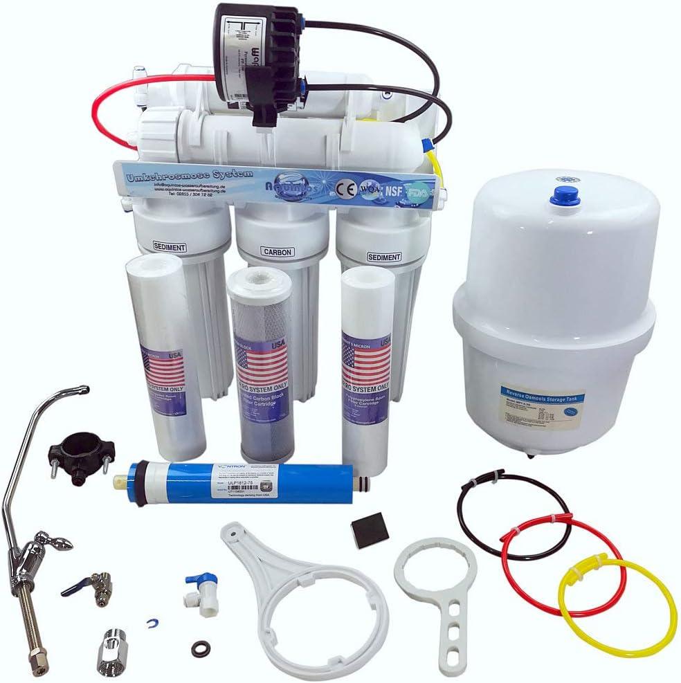 Trinkwasserfilter Ohne BPA Reserve Osmosis Permeatpumpe 5 Stufen Umkehrosmoseanlage R.O.S von Aquintos NSF zertifiziert