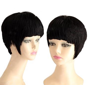 Amazon.com  Star Cosplay Trek Wig Spock Short Black Wig Hair Costume  Accessories Coslive  Beauty 1d8c4e6153d0