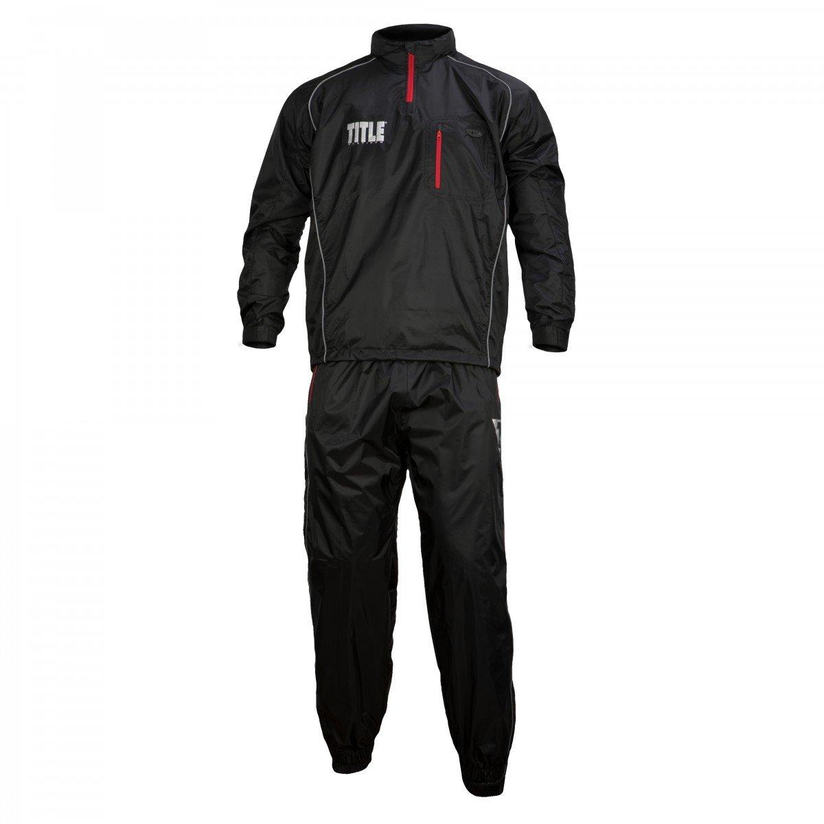 TITLE Platinum Prevail Rubberized Sauna Suit, Black, Large