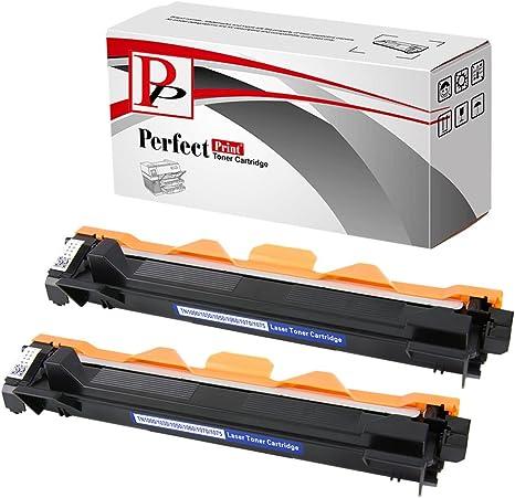 PerfectPrint - 2 Cartucho de toner compatible TN1050 Laser para ...