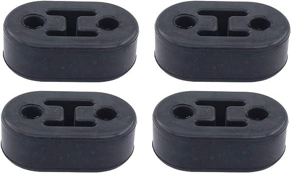 Pack of 2 CarXX 2 Hole Exhaust Hanger Bushing Muffler Insulator Shock Absorbent High Density Rubber Universal Blue