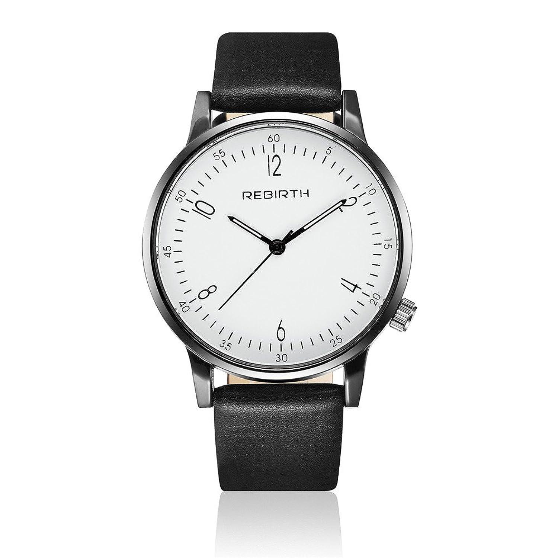 RebirthユニセックスDaily防水12-hoursデザイン腕時計レザーストラップ 3# B072283H793#