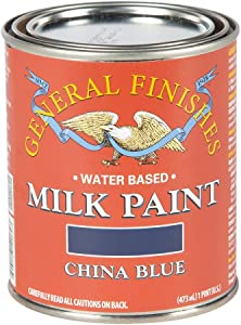 General Finishes Water Based Milk Paint, 1 Pint, China Blue