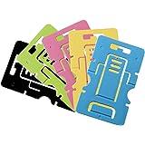 Goshang スマホスタンド 卓上 タブレットスタンド カード式 折りたたみ式 角度調整可能 薄型 携帯ホルダー 5枚セット ランダム色