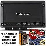 Rockford Fosgate R250X4 250 Watt RMS 4-Channel Car Amplifier + Amp Wire Kit