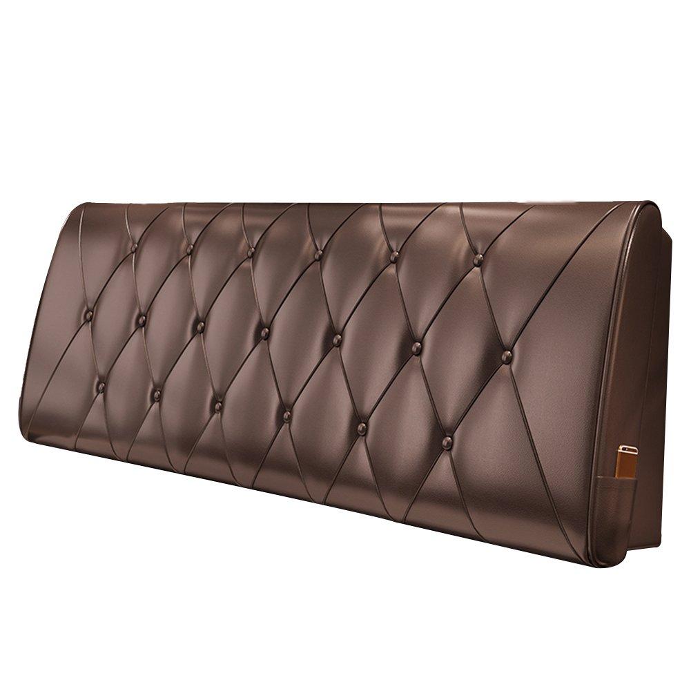 HAIPENG クッション ベッドの背もたれ ベッド バックレスト カバー ヘッドボード ベッドサイド クッション 布張り 枕 腰椎 パッド ソファー レザー リムーバブル、 10色、 マルチサイズ (色 : Chocolate, サイズ さいず : 90x10x60cm) B07DNX4Q1L 90x10x60cm|Chocolate Chocolate 90x10x60cm