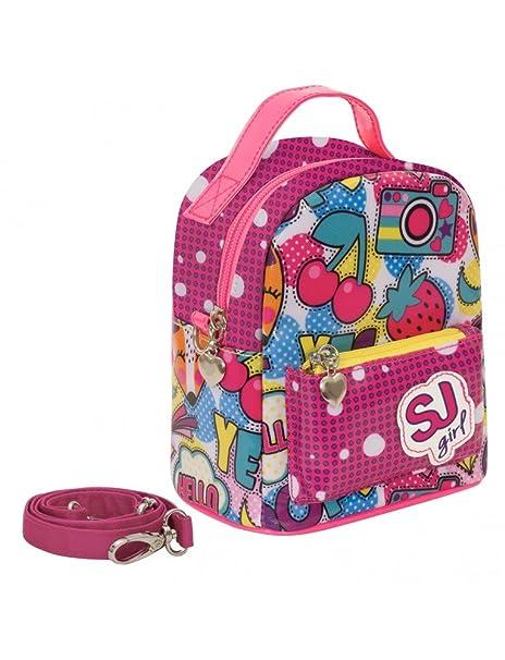 aba2c86b95 Zaino bambina SEVEN SJ GANG CHERRY POP nuova collezione 2018 mini handpack zaino  mini rosa pois