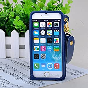Moonar&174;iPhone 6 4.7inch Leather Case Cover Pouch with Hooking Strap(Dark Blue)