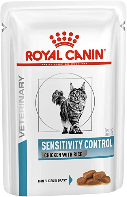 ROYAL CANIN Cat Sensitivity Control Chicken & Rice Comida para Gatos - Paquete de 12 x 100 gr - Total: 1200 gr: Amazon.es: Productos para mascotas