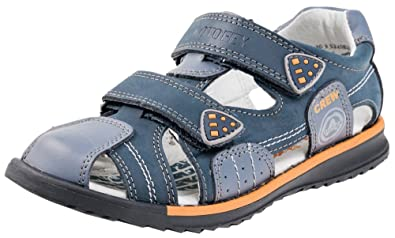 e3a3be3b67 Kotofey Boys Grey Sandals 522082-22 Genuine Leather Shoes For Kids - Orthopedic  Shoes (