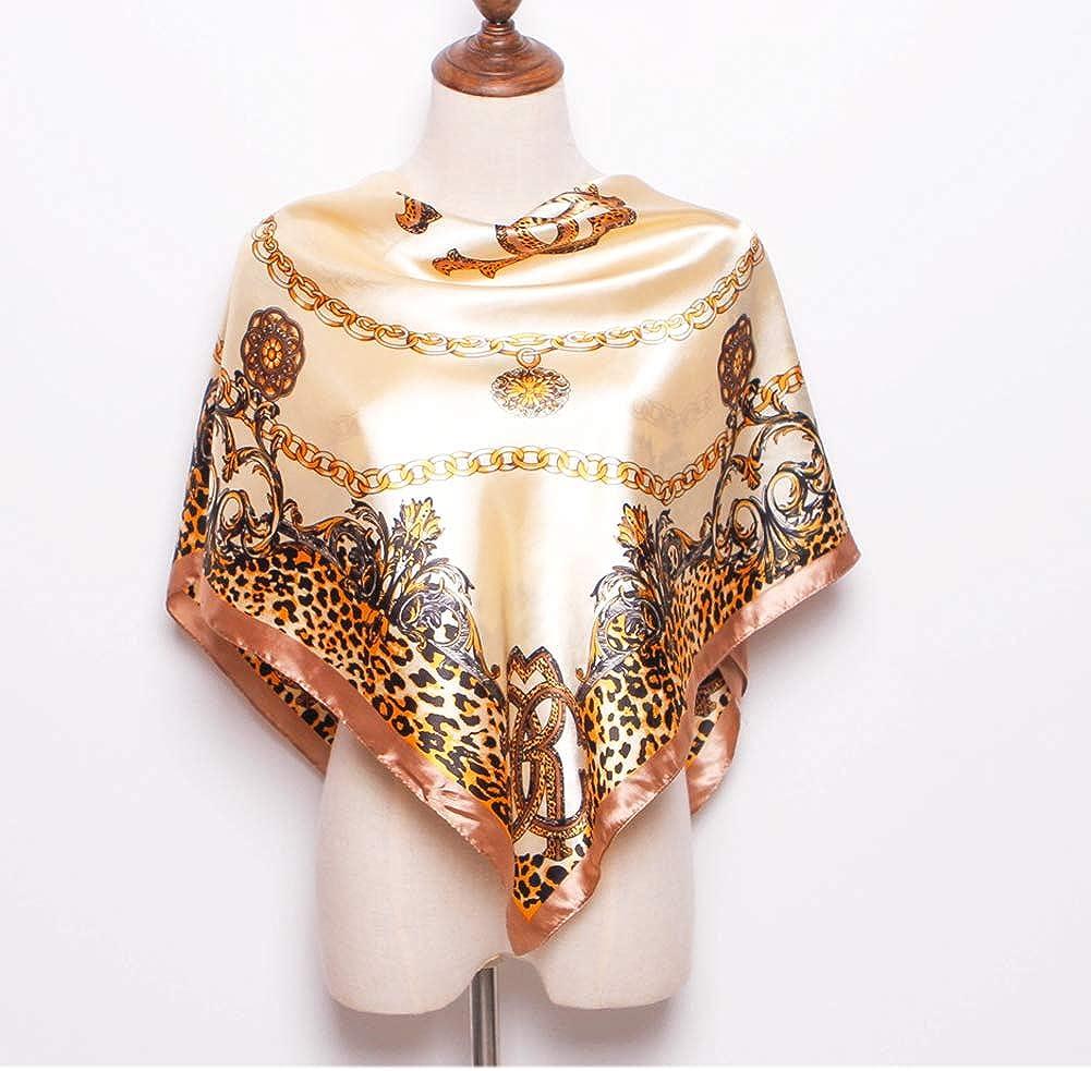 iEverest Grande Foulard Quadrato Seta Donna Sciarpe Quadrato in Seta Donna Hijab Scialle Sciarpa Quadrato Satinato Donna Fazzoletto Quadrato Seta Spiaggia Scialle Anti UV