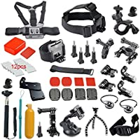 Duable 37-in-1 Sports Camera Accessories Kit for GoPro Hero 4 3+ 3 2 1- Black