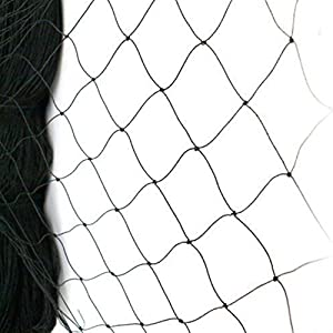 """boknight 25' X 50' Net Netting for Bird Poultry Aviary Game Pens New 2.4"""" Square Mesh Size (25'×50'-2.4'')"""