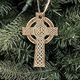 Ornament - Celtic Cross - Raw Wood 2x4in