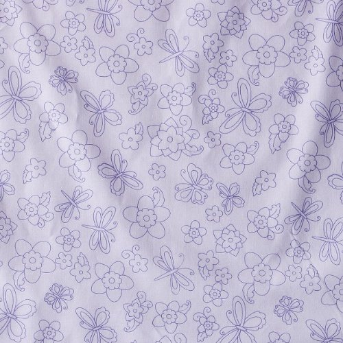 Tiddliwinks Batik Butterfly Fitted Print Crib Sheet – Purple, Baby & Kids Zone