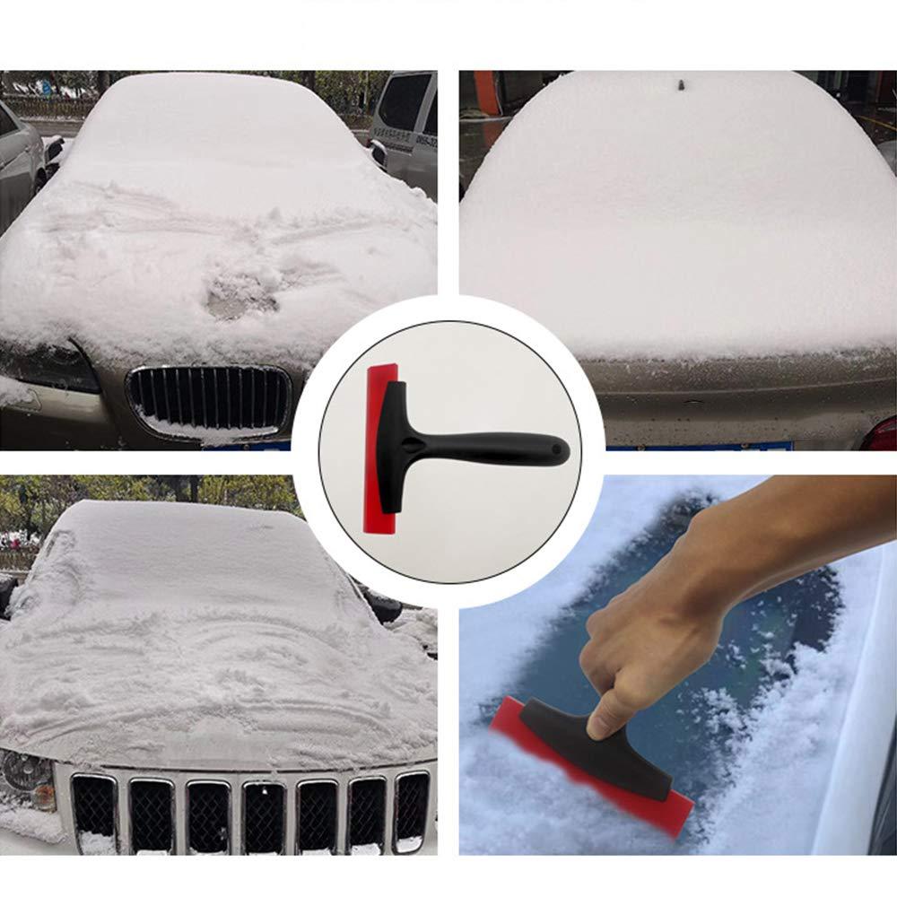 Lezed Pala de Nieve for autom/óvil de Invierno Raspador de Hielo Pala de descongelaci/ón Parabrisas Rasqueta para Hielo Remueve Hielo Y Escarcha del Hielo De La Nieve Lavado r/ápido