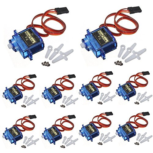 Ybee 10x Pcs SG90 Micro Servo Motor Mini SG90 9g Servo For RC Helicopter Airplane Car Boat Robot controls