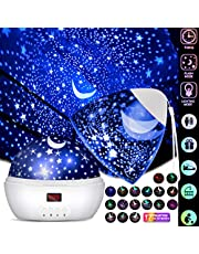 DSAATN Star Projector Light for Bedroom with Super Timer, Toys for 1 2 3 4 5 6 7 8 9 10 year old girls & Boys Toys Age 1-10 Stars & Moon Make Child Sleep Peacefully Kids Night Light Best Gift