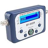 Sharplace Pointeur Satellite Numérique / Satfinder Parabole Détecteur Localisateur de Signal avec Boussole Buzzer LCD FTA Noir