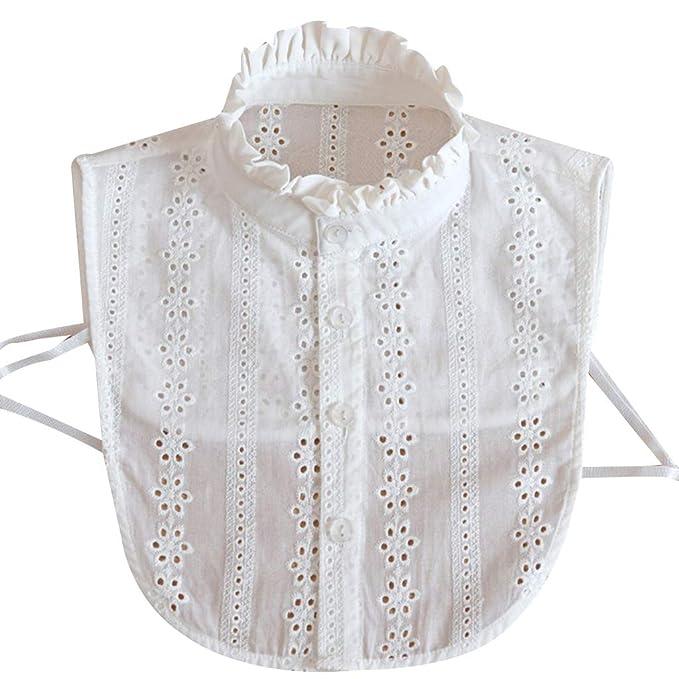 Tandou Fake Kragen Abnehmbare Blusenkragen Krageneinsatz Damen
