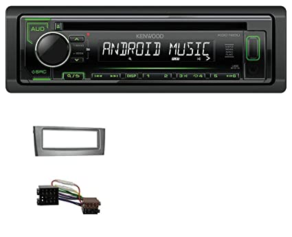 Kenwood ug din usb cd mp aux auto autoradio per fiat punto