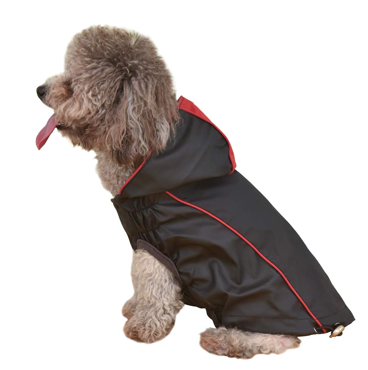 OSPet Dog Raincoat Waterproof Windproof Lightweight Dog Coat Jacket Double-Sided Jacket with Hood Vest Harness for Small Medium Dogs