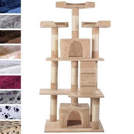 leopet Gatos Árbol para gatos Rascador Muebles para gatos hasta el techo extra alto