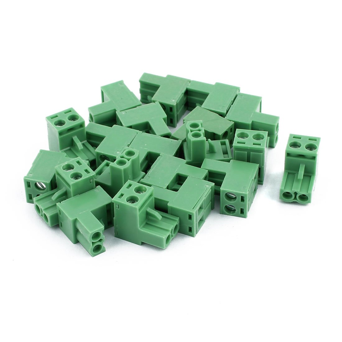 uxcell 20Pcs 300V KF2EDGK 5.08mm Pitch 2-Pin PCB Screw Terminal Block Connector a16122000ux0370