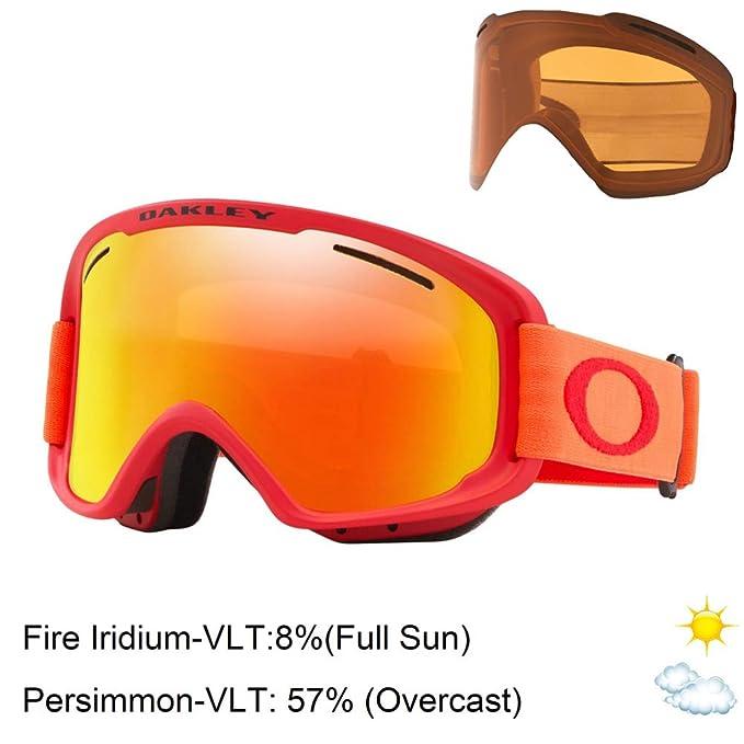 Gafas de esquí Oakley con cristales naranja neón y rojo
