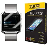 Taslar(TM) Fitbit Blaze Screen Protector Premium Arc Edge Tempered Glass Scratch Screen Protector Guard Card for Fitbit Blaze