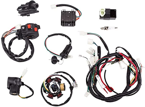 Complete Wiring Harness Assembly for GY6 125 150cc ATV QUAD Scooter Motowork