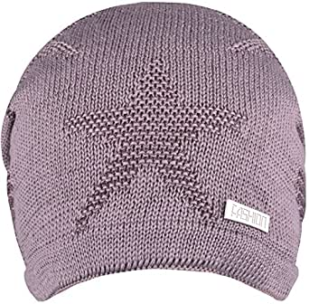 Amazon.com  WDSKY Mens Winter Beanie Hats Cable Knit Slouchy Khaki ... 1cca3e275bd