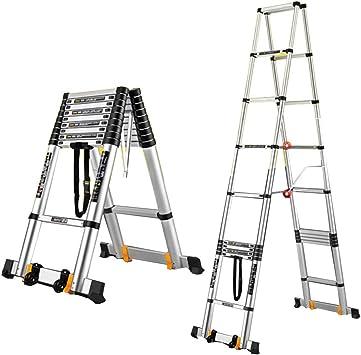 Extensibles Escalera extensible Alminium Escalera plegable telescópica Escalera de espiga de bricolaje Escalera escalonada 7 tamaños (Size : 3m(10.5ft)): Amazon.es: Bricolaje y herramientas