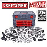 Craftsman 254 PC Mechanics Tool Set with 75 Tooth Ratchet Ratcheting Wrench #263