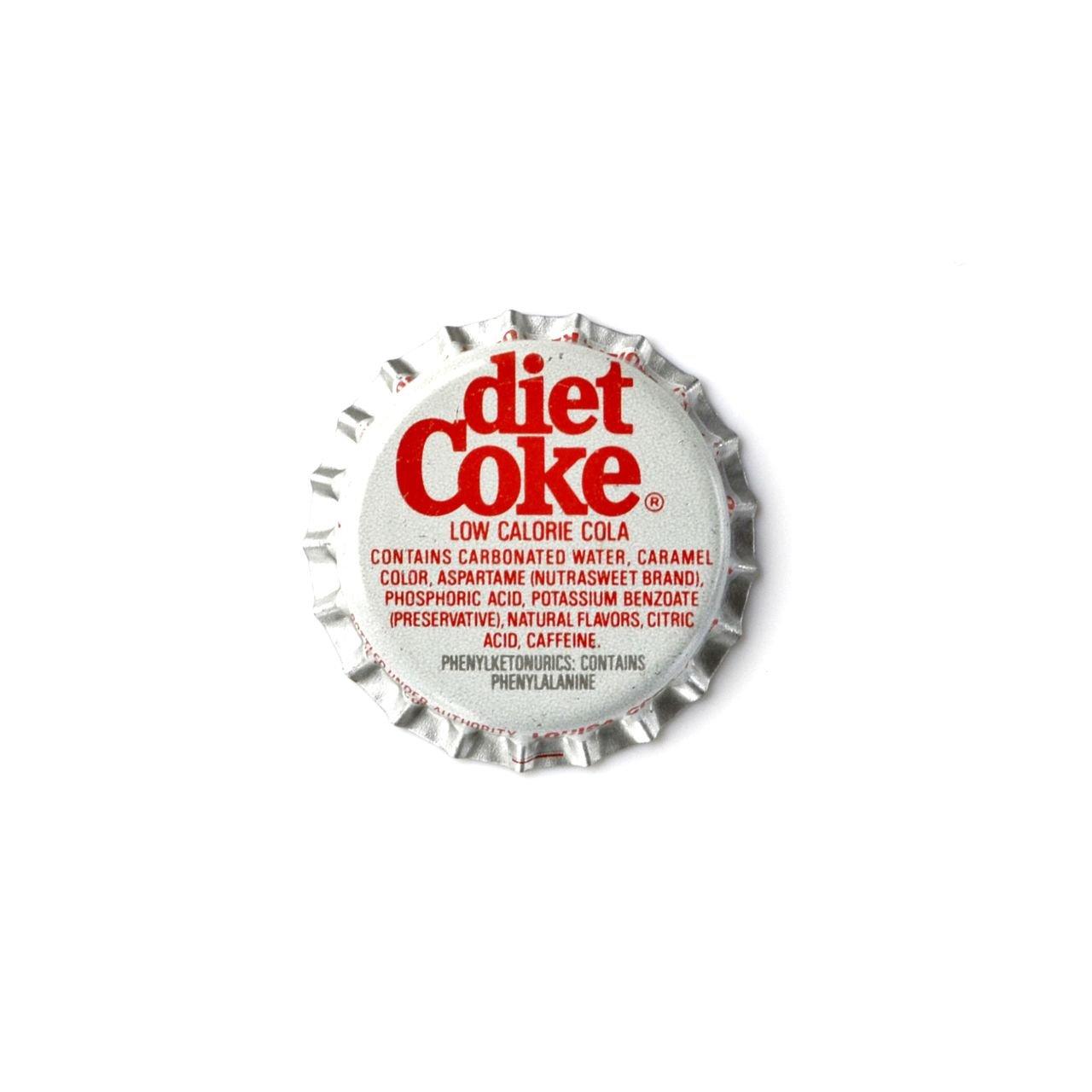 Quality Handcrafts Guaranteed Diet Coke Bottle Cap Lapel Pin