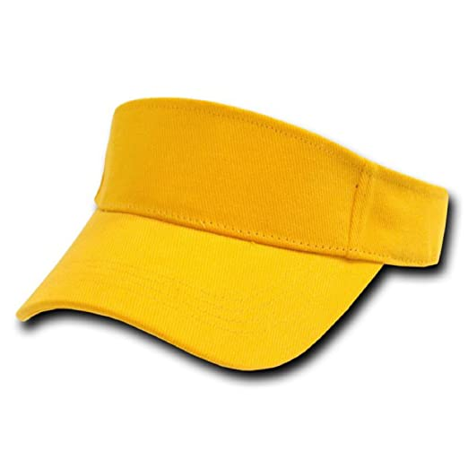 GOLD YELLOW ADJUSTABLE SUN GOLF TENNIS VISOR CAP CAPS HAT HATS at ... 6772382ef13