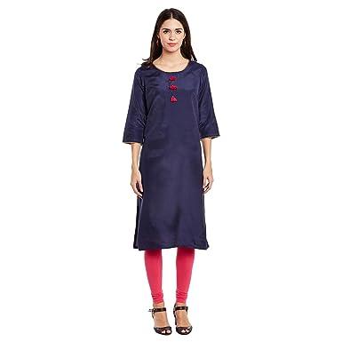 b8526724fbe Rangmanch by Pantaloons Women s Straight Kurta (110031505001 Indigo S)