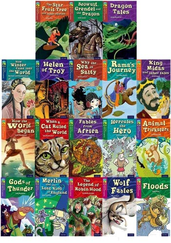 Treetops Myths and Legends Collection 18 Books Set (Oxford Reading Tree) (level 10-15)