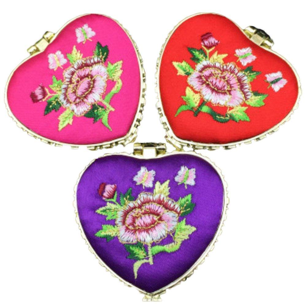 Chytaii Compact Mirror Travel Makeup Mirror Small Pocket Size Small Mirror Handbag Purse Mirror Heart