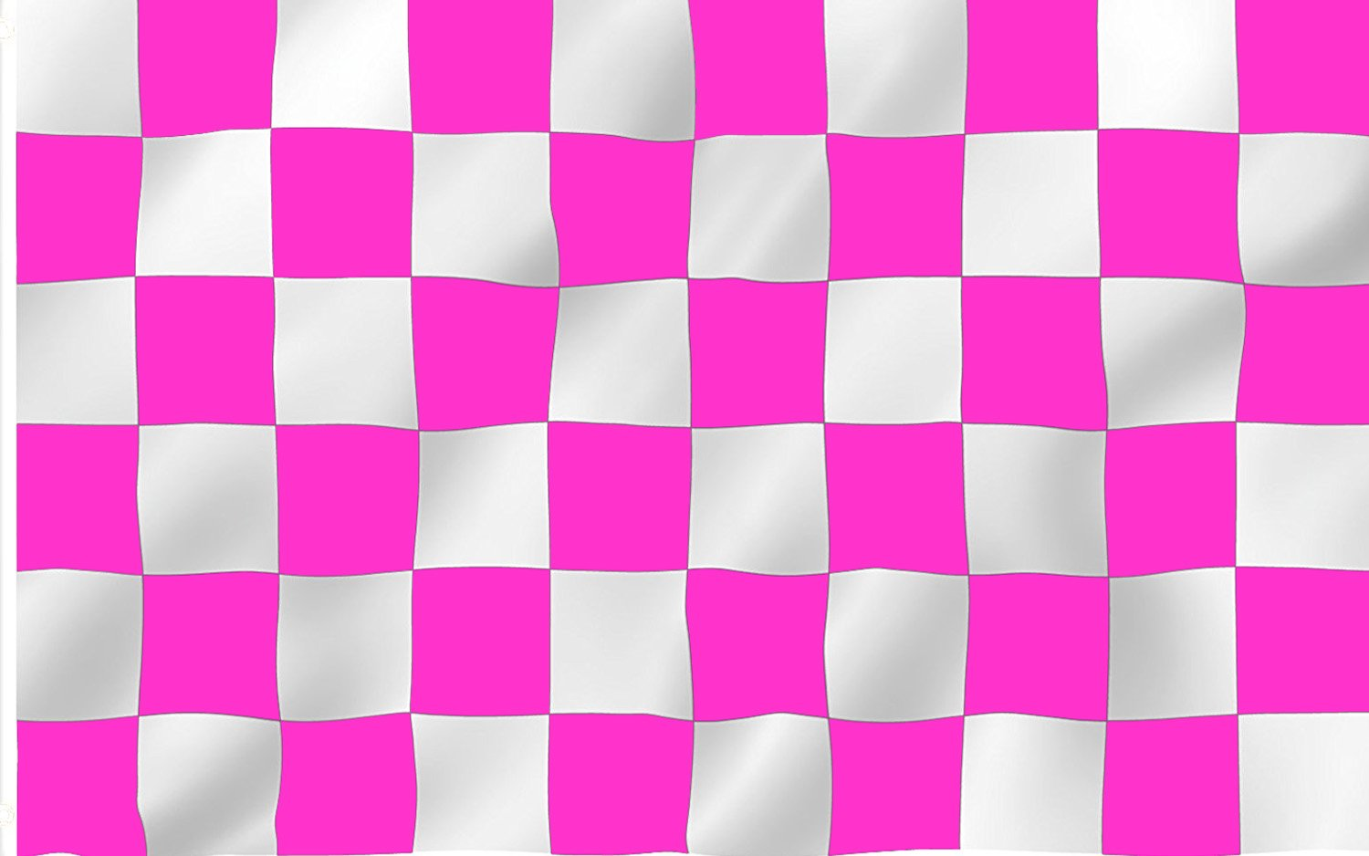 6 ft. Pink & White Checker Bicycle Safety Flag with Rear Axle Mounting Bracket
